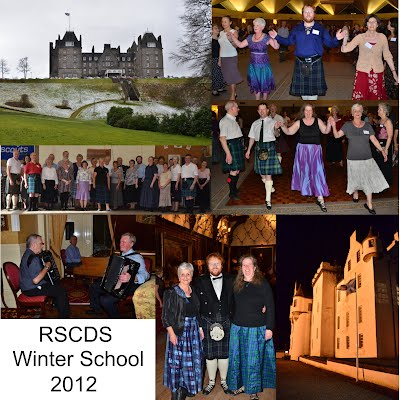 Collage of photos from RSCDS Winter School 2012