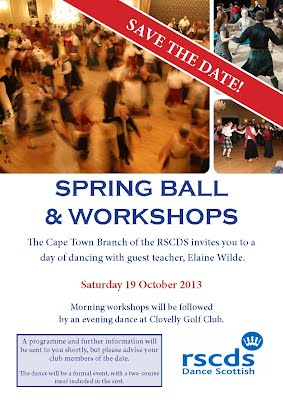 Flyer SAve the Date 19 October 2013 Workshops and Dance