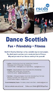 Flyer for Cape Town Scottish Country Dance Clubs