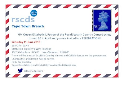 RSCDS Celebration for Queen 90th Invitation