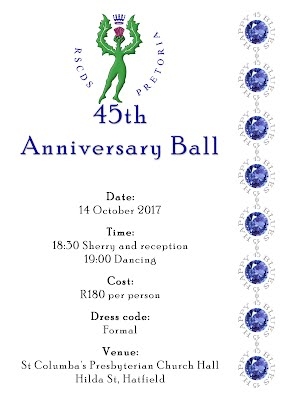 RSCDS Pretoria 45th Anniversary Ball